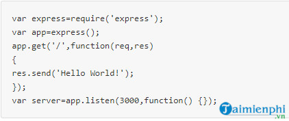 Familiarize yourself with the express framework in node js 3