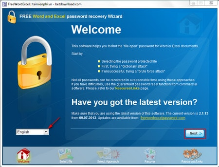 Word and Excel Password Recovery Wizard