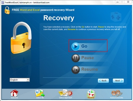 Reinstall the password state and excel password recovery wizard