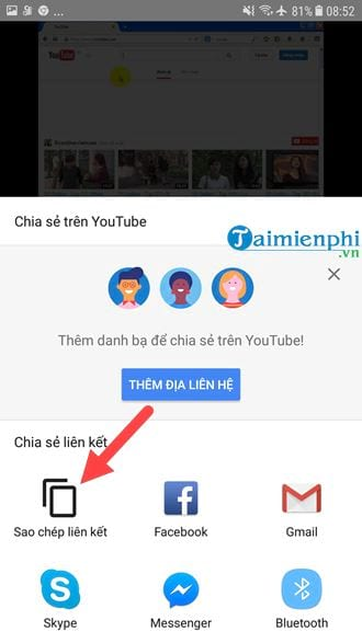 lay the youtube video link on the computer and how the phone is 8