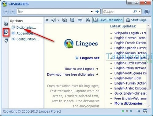 using lingoes on a computer
