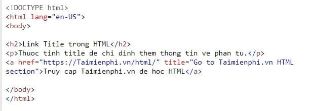 Link in html 14