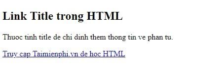 Link in html 15