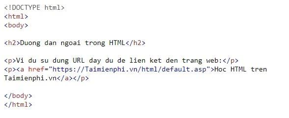 The link is linked in html 20