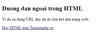 Link in html 21
