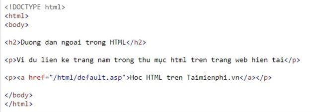 Link in html 22