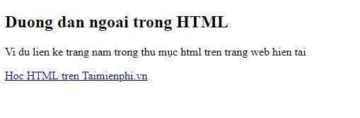 Link in html 23