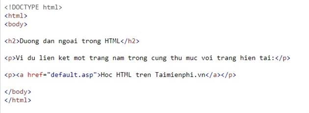 Link in html 24