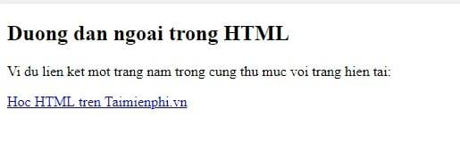 Link in html 25