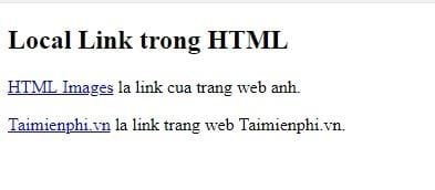 Link in html 5