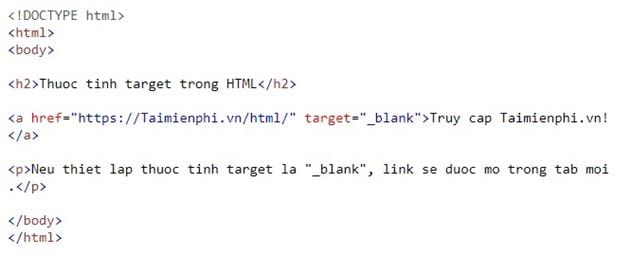 Link in html 8