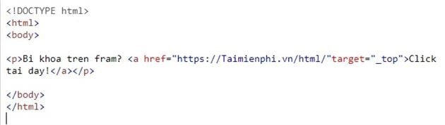 Link in html 10