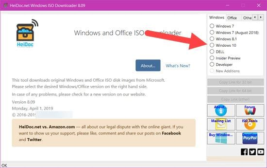 link in iso file Windows 10 32bit and 64bit cannot use media creation tool 2