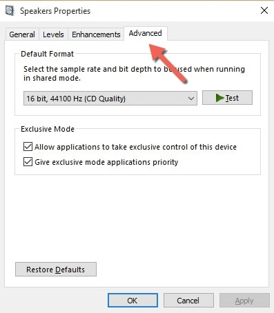 Else answer for Windows 10 audio driver
