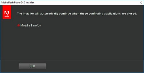 Install Adobe Flash Player on the computer