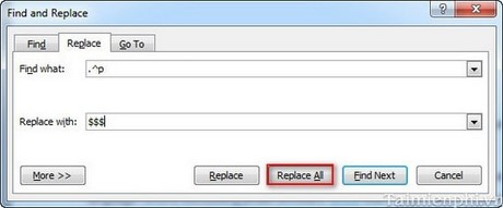 Delete page space in word