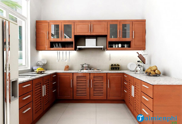 The kitchen looks beautiful in a hot shape