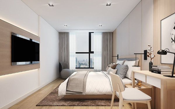 But the design of the bedroom is beautiful and luxurious