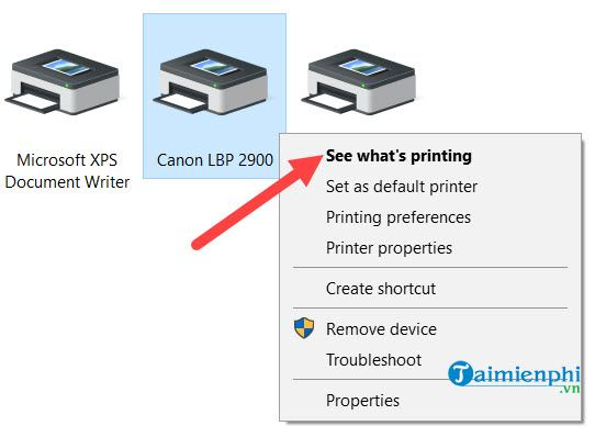 Canon 2900 printer not printed in 9