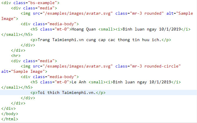 media object in bootstrap 3