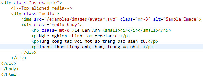media object in bootstrap 9