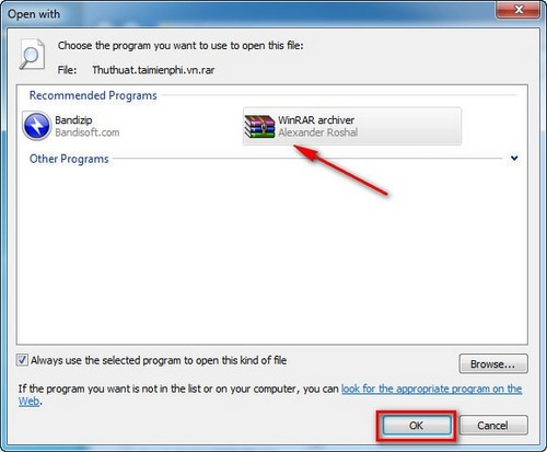 How to create a WinRAR file
