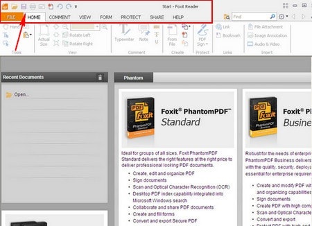 pdf file with foxit reader