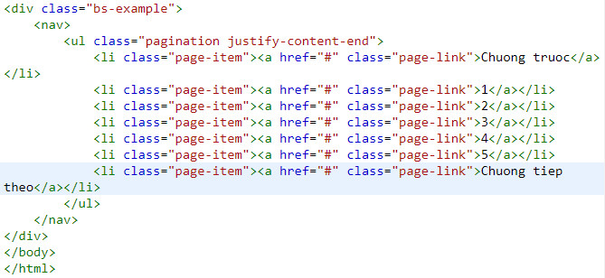 pagination in bootstrap 11