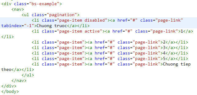 pagination in bootstrap 3