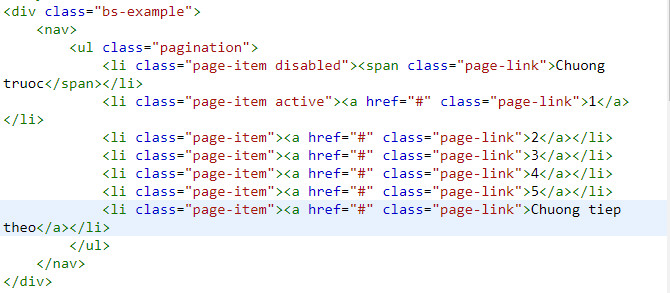 pagination in bootstrap 5