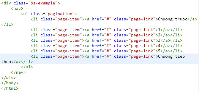 pagination in bootstrap
