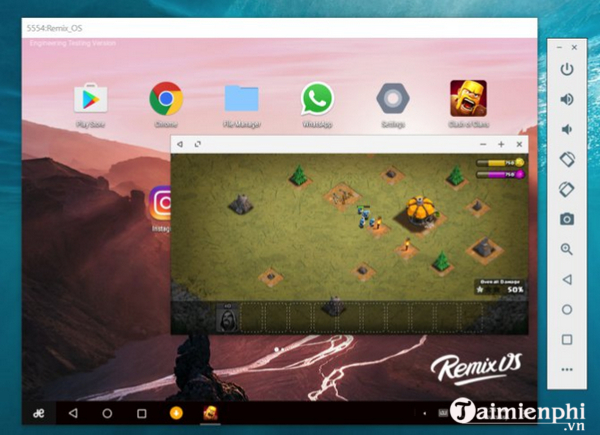 software version android remix os player