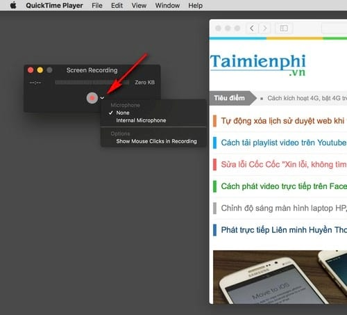 turn to screen macbook with quicktime player 3