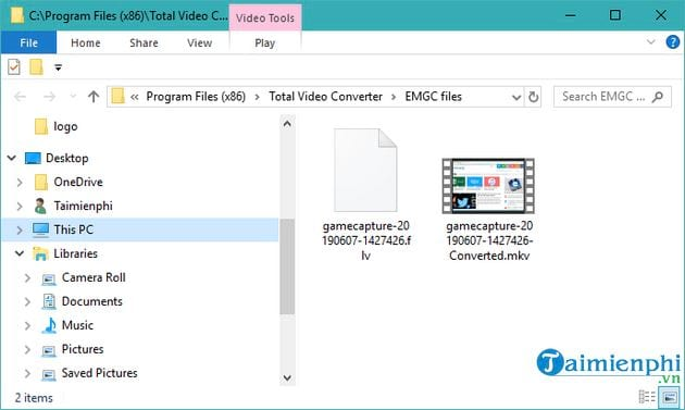 video recording screen with total video converter 8