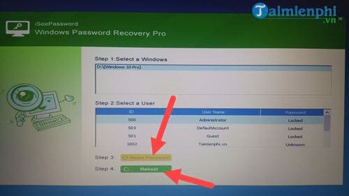 reset password with windows 10 usb