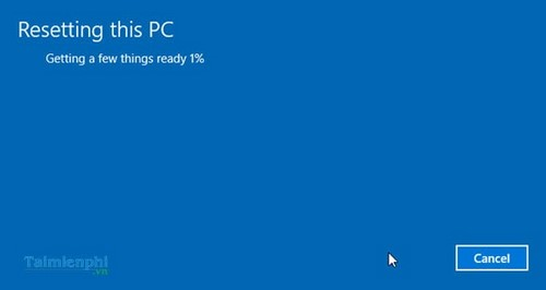 Re-install Windows 10 to the original page