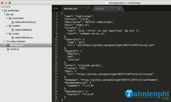 What is the restful api in node js 6?