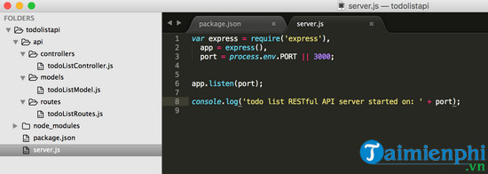 restful api in node js what is 7