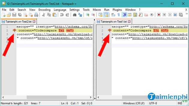 compose 2 text files using notepad 12
