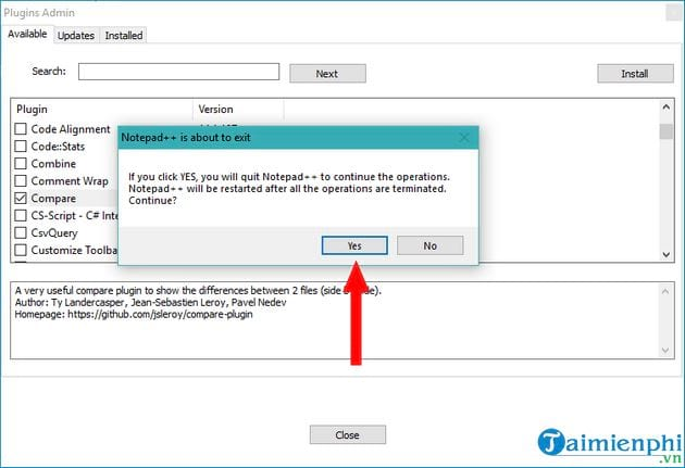 compose 2 text files using notepad 5