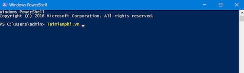 The command prompt and powershell are different
