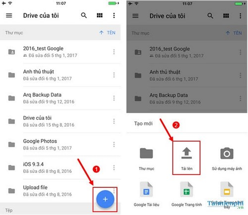 use google drive to save data on your phone