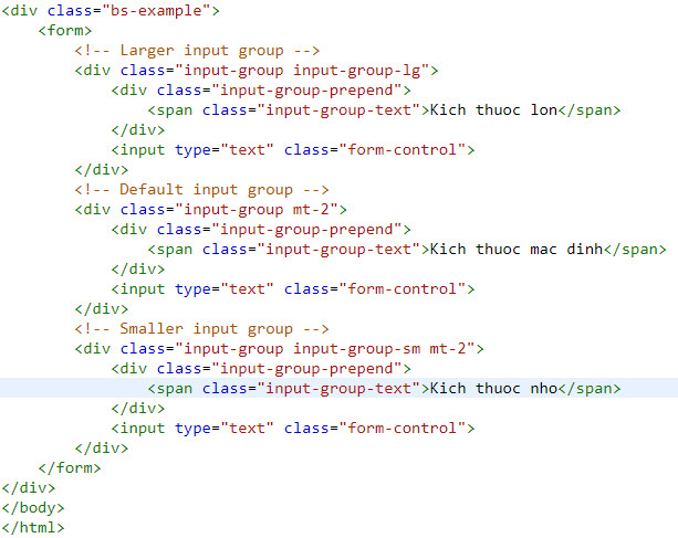 Use input group in bootstrap 15