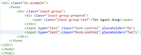 Using input group in bootstrap 5