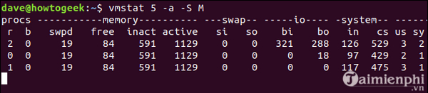 Using vmstat command on linux 11