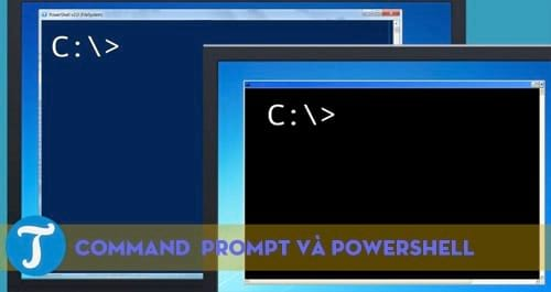 The differences between command prompt and Windows powershell 4