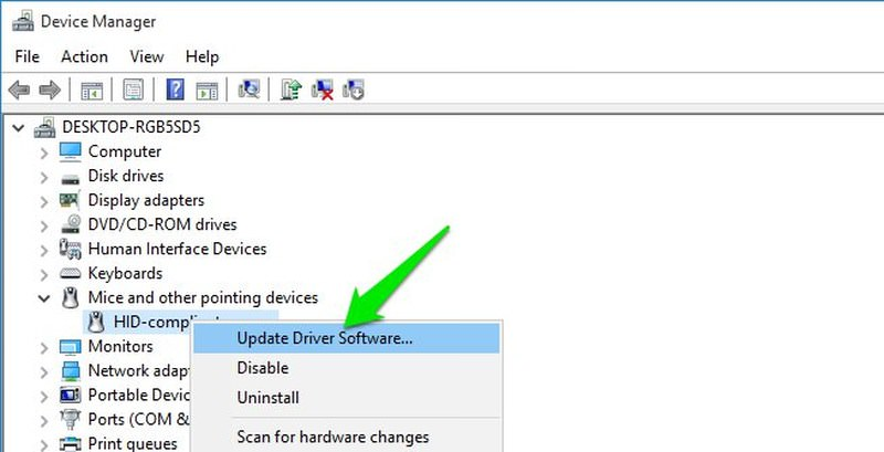 fix the mouse click on the windows 8 computer
