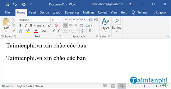 loi can not be used when using font vni