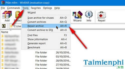 guide to Winrar unexpected end of archive