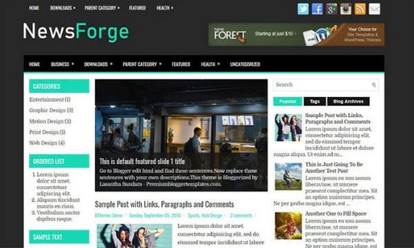 download blogspot template for free newsletter 3